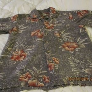 Batck Bay Hawaiian Shirt  ~ SILK ~